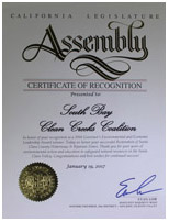 California State Assembly Award
