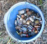 bucket of batteries